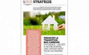 [Lettre Stratégie] Financer la transition bas-carbone en France…
